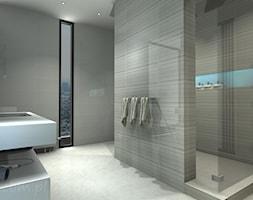 Łazienka 7 - Średnia szara łazienka w bloku w domu jednorodzinnym z oknem, styl klasyczny - zdjęcie od Salon Łazienek JACEK - Homebook