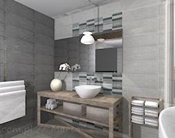 Łazienka 4 - Mała szara łazienka na poddaszu w bloku w domu jednorodzinnym z oknem, styl tradycyjny - zdjęcie od Salon Łazienek JACEK - Homebook