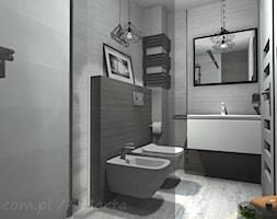 Łazienka 5 - Mała czarna łazienka w bloku w domu jednorodzinnym bez okna, styl rustykalny - zdjęcie od Salon Łazienek JACEK - Homebook