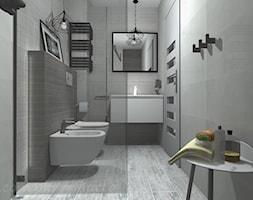 Łazienka 5 - Mała szara łazienka na poddaszu w bloku w domu jednorodzinnym bez okna, styl rustykaln ... - zdjęcie od Salon Łazienek JACEK - Homebook