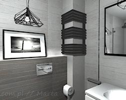 Łazienka 5 - Mała szara łazienka w bloku w domu jednorodzinnym bez okna, styl rustykalny - zdjęcie od Salon Łazienek JACEK - Homebook