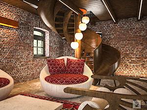 Stary młyn pod Częstochową - Schody, styl rustykalny - zdjęcie od K2studio