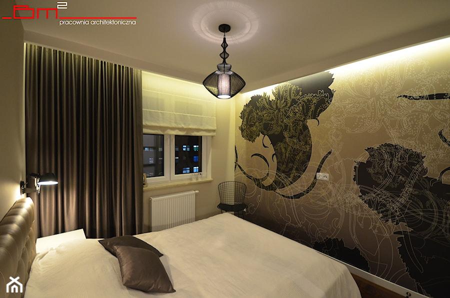 projekt mieszkania 65m2 - Sypialnia, styl nowoczesny - zdjęcie od bm2 brzostek maciej