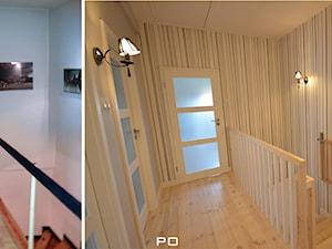 generalny remont domu - Małe wąskie schody jednobiegowe drewniane, styl klasyczny - zdjęcie od bm2 brzostek maciej