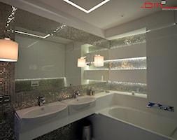 apartament 140m2 - Średnia biała łazienka bez okna, styl minimalistyczny - zdjęcie od bm2 brzostek maciej