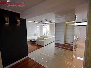 apartament 140m2 - Średni czarny szary hol / przedpokój, styl minimalistyczny - zdjęcie od bm2 brzostek maciej