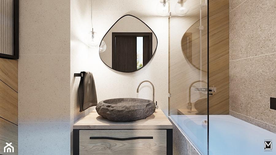 Łazienka z organicznymi elemantami - zdjęcie od jaminska.pl