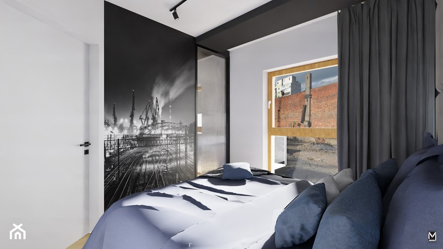 Sypialnia w apartamencie w Gdańsku - zdjęcie od jaminska.pl