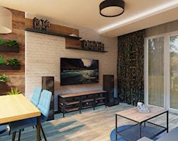 Salon łączący wiele elementów - zdjęcie od jaminska.pl - Homebook
