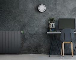 Heat Controller - Średnie czarne biuro kącik do pracy, styl minimalistyczny - zdjęcie od Fibaro