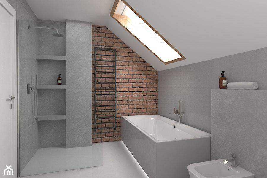 Szara łazienka ściana Z Cegły Zdjęcie Od Ohhomeme Homebook