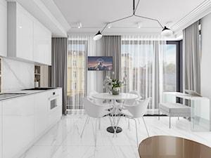 Biały aneks kuchenny z jadalnią - zdjęcie od OHHOME.ME
