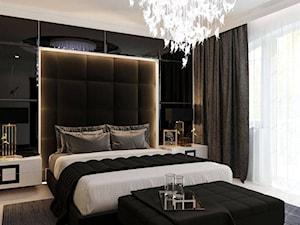 REZYDENCJA POD PŁOCKIEM sypialnia - Średnia kolorowa sypialnia małżeńska, styl glamour - zdjęcie od MAJER concept