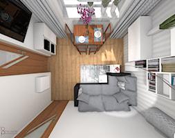 Pokój dzienny w mieszkaniu - Salon, styl skandynawski - zdjęcie od dopracownia architektoniczna - Homebook