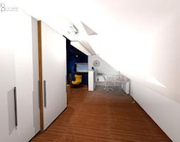 Pokój na poddaszu dla nastolatka - Pokój dziecka, styl nowoczesny - zdjęcie od dopracownia architektoniczna - Homebook