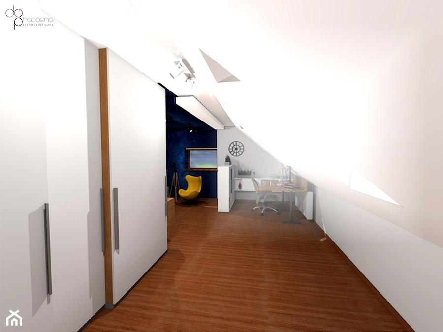 Pokój na poddaszu dla nastolatka - Pokój dziecka, styl nowoczesny - zdjęcie od dopracownia architektoniczna