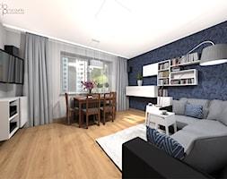 Pokój dzienny w mieszkaniu - Salon, styl nowoczesny - zdjęcie od dopracownia architektoniczna - Homebook