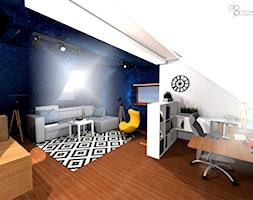 pokój na poddaszu dla nastolatka - zdjęcie od dopracownia architektoniczna - Homebook