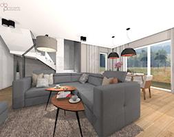 industrialny salon w domu - Salon, styl industrialny - zdjęcie od dopracownia architektoniczna - Homebook