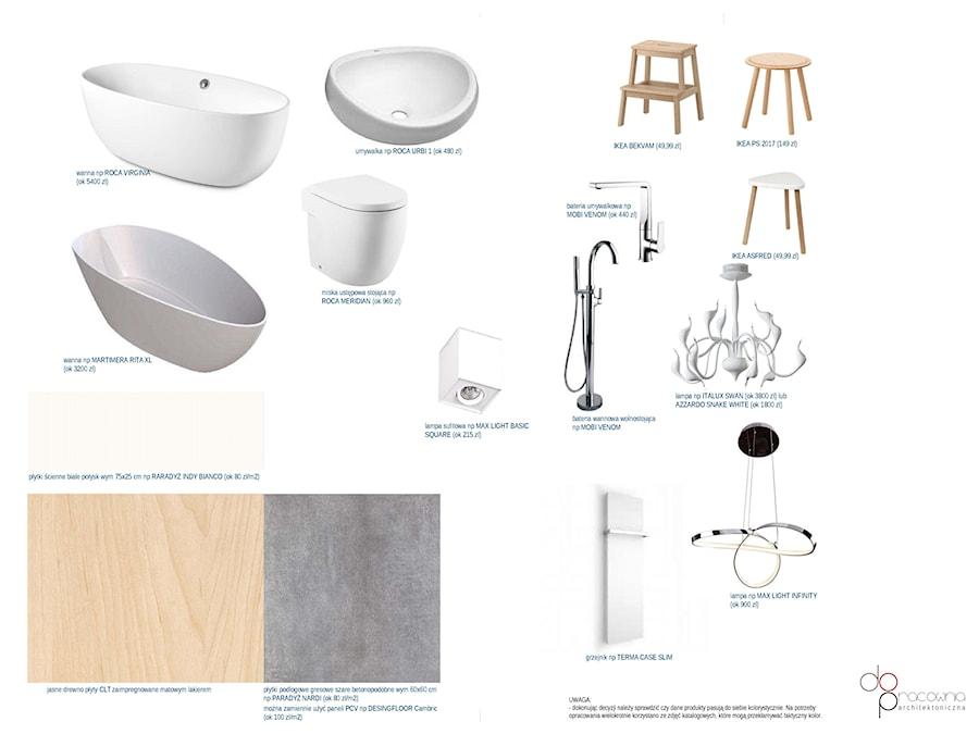drewniana łazienka - Łazienka, styl skandynawski - zdjęcie od dopracownia architektoniczna