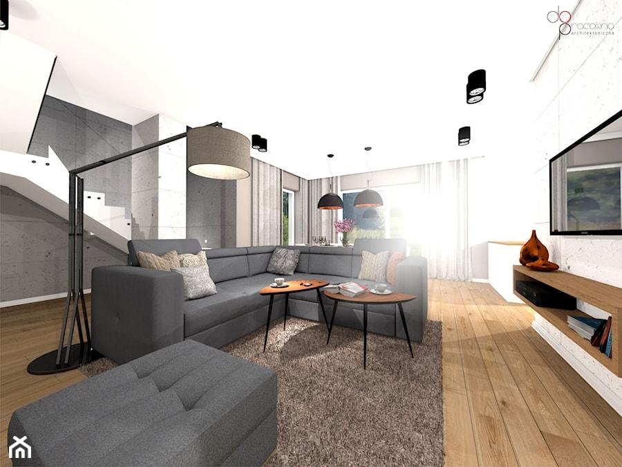 industrialny salon w domu - Salon, styl industrialny - zdjęcie od dopracownia architektoniczna