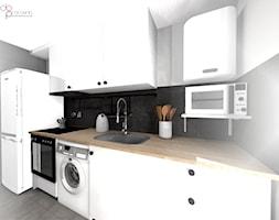 mała i wąska kuchnia - Kuchnia, styl nowoczesny - zdjęcie od dopracownia architektoniczna - Homebook