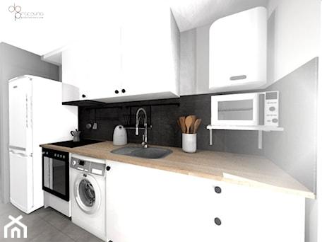 Aranżacje wnętrz - Kuchnia: mała i wąska kuchnia - Kuchnia, styl nowoczesny - dopracownia architektoniczna. Przeglądaj, dodawaj i zapisuj najlepsze zdjęcia, pomysły i inspiracje designerskie. W bazie mamy już prawie milion fotografii!