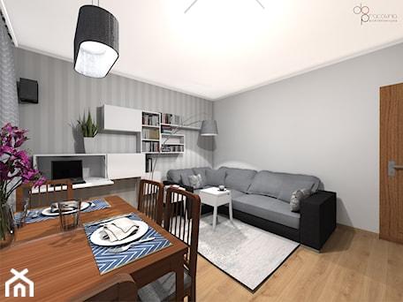 Aranżacje wnętrz - Salon: Pokój dzienny w mieszkaniu - Salon, styl skandynawski - dopracownia architektoniczna. Przeglądaj, dodawaj i zapisuj najlepsze zdjęcia, pomysły i inspiracje designerskie. W bazie mamy już prawie milion fotografii!
