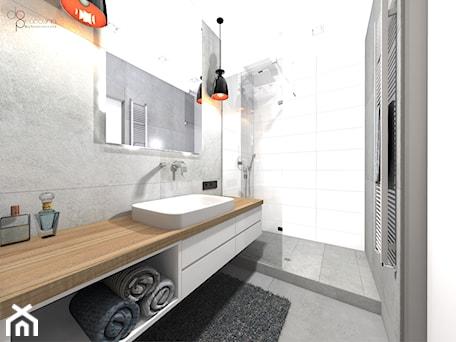 Aranżacje wnętrz - Łazienka: Łazienka w mieszkaniu - Łazienka, styl nowoczesny - dopracownia architektoniczna. Przeglądaj, dodawaj i zapisuj najlepsze zdjęcia, pomysły i inspiracje designerskie. W bazie mamy już prawie milion fotografii!