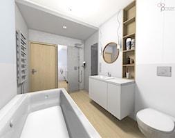 aranżacja długiej łazienki w domu - zdjęcie od dopracownia architektoniczna - Homebook