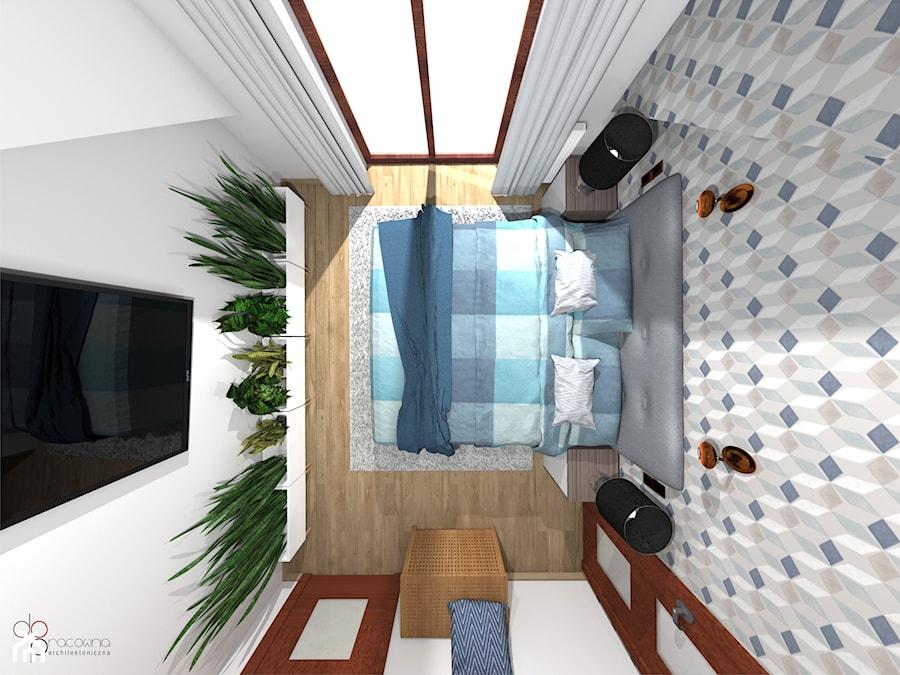 sypialnia na poddaszu - Sypialnia, styl skandynawski - zdjęcie od dopracownia architektoniczna