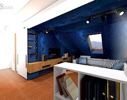 granatowe niebo w pokoju - zdjęcie od dopracownia architektoniczna - Homebook