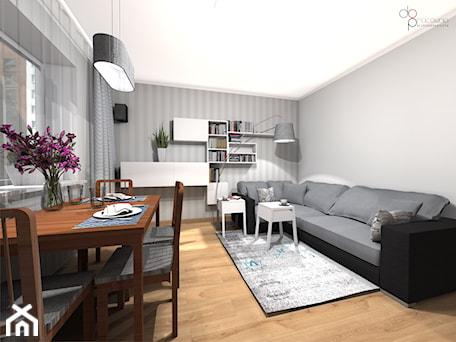 Aranżacje wnętrz - Salon: Pokój dzienny w mieszkaniu - Salon, styl nowoczesny - dopracownia architektoniczna. Przeglądaj, dodawaj i zapisuj najlepsze zdjęcia, pomysły i inspiracje designerskie. W bazie mamy już prawie milion fotografii!