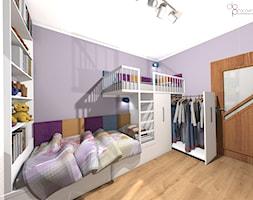łóżko piętrowe z garderobą w pokoju dzieci - zdjęcie od dopracownia architektoniczna - Homebook