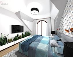sypialnia na poddaszu - Sypialnia, styl skandynawski - zdjęcie od dopracownia architektoniczna - Homebook