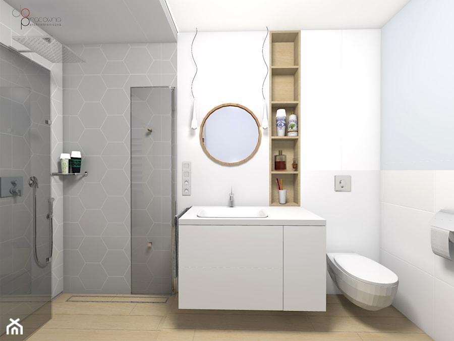 przechodnia kabina prysznicowa - zdjęcie od dopracownia architektoniczna