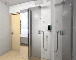 składany prysznic w łazience - zdjęcie od dopracownia architektoniczna - Homebook