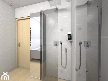 Aranżacje wnętrz - Łazienka: składany prysznic w łazience - dopracownia architektoniczna. Przeglądaj, dodawaj i zapisuj najlepsze zdjęcia, pomysły i inspiracje designerskie. W bazie mamy już prawie milion fotografii!