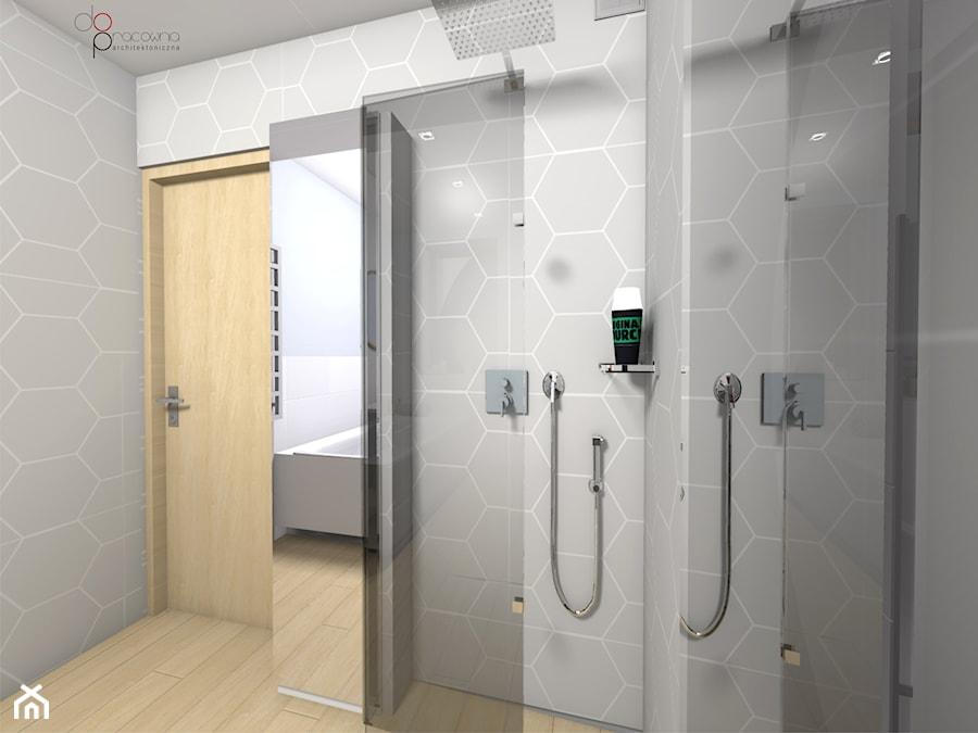 składany prysznic w łazience - zdjęcie od dopracownia architektoniczna