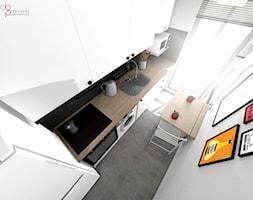mała i wąska kuchnia - zdjęcie od dopracownia architektoniczna - Homebook