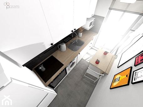 Aranżacje wnętrz - Kuchnia: mała i wąska kuchnia - dopracownia architektoniczna. Przeglądaj, dodawaj i zapisuj najlepsze zdjęcia, pomysły i inspiracje designerskie. W bazie mamy już prawie milion fotografii!