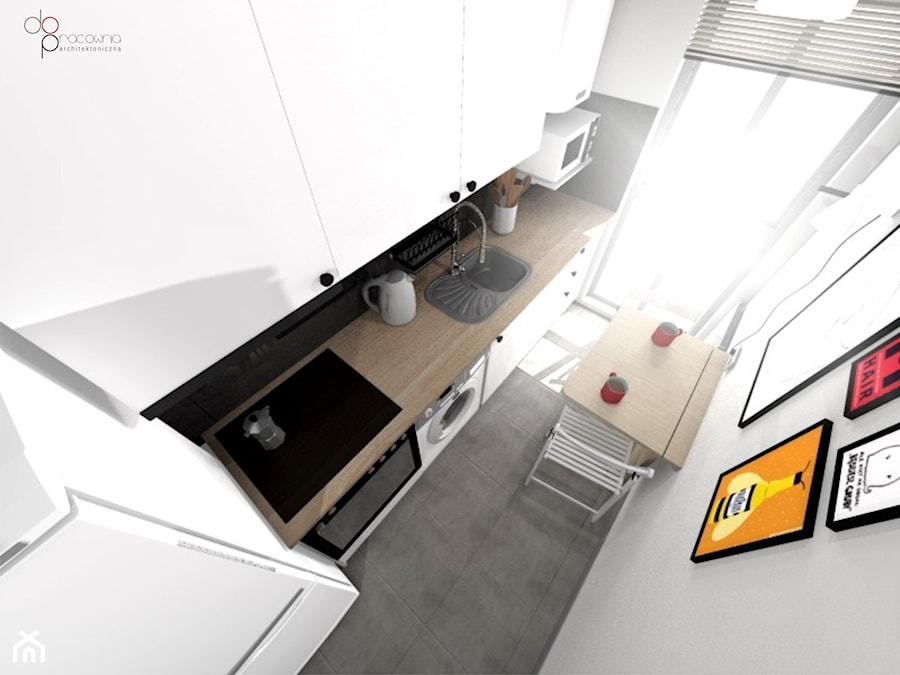 mała i wąska kuchnia - zdjęcie od dopracownia architektoniczna