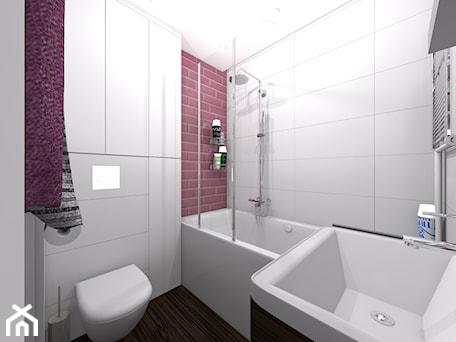 Aranżacje wnętrz - Łazienka: łazienka w kolorze malwa - dopracownia architektoniczna. Przeglądaj, dodawaj i zapisuj najlepsze zdjęcia, pomysły i inspiracje designerskie. W bazie mamy już prawie milion fotografii!