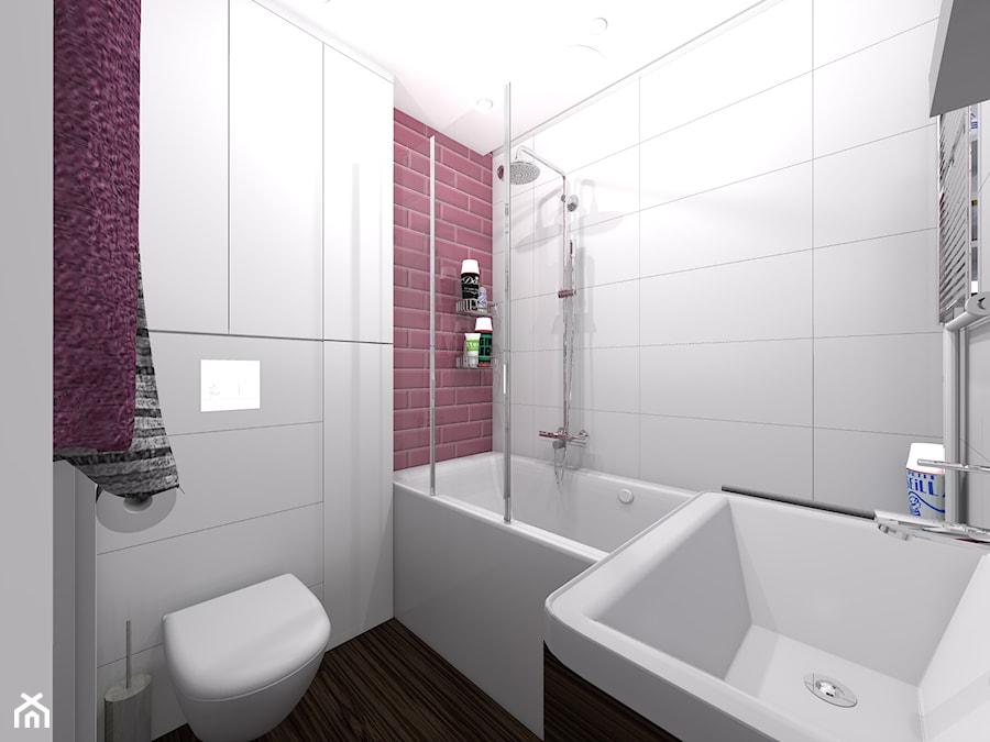 łazienka w kolorze malwa - zdjęcie od dopracownia architektoniczna