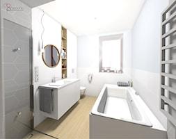 wąska łazienka - zdjęcie od dopracownia architektoniczna - Homebook