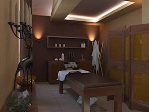 Gabinet masażu w Pszczynie - Wnętrza publiczne, styl kolonialny - zdjęcie od QUADRATO arch. Magdalena Gazda-Żemła