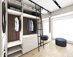 Dom w Baninie - Duża garderoba z oknem oddzielne pomieszczenie, styl nowoczesny - zdjęcie od Pracownia Projektowa Decoretti - Agata Jachimowicz