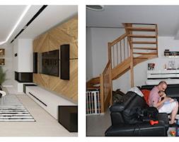 Apartament Morena - Metamorfoza - Średni biały salon - zdjęcie od Pracownia Projektowa Decoretti - Agata Jachimowicz