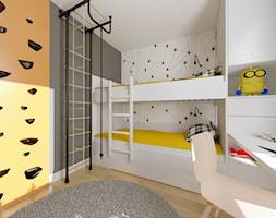 Apartament Słoneczna Oliwa - Duży biały czarny pokój dziecka dla chłopca dla dziewczynki dla rodzeństwa dla ucznia dla nastolatka, styl nowoczesny - zdjęcie od Pracownia Projektowa Decoretti - Agata Jachimowicz
