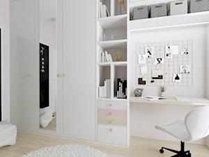 Apartament dla Mamy i Córki - Średni biały pokój dziecka dla chłopca dla dziewczynki dla ucznia dla nastolatka, styl glamour - zdjęcie od Pracownia Projektowa Decoretti - Agata Jachimowicz